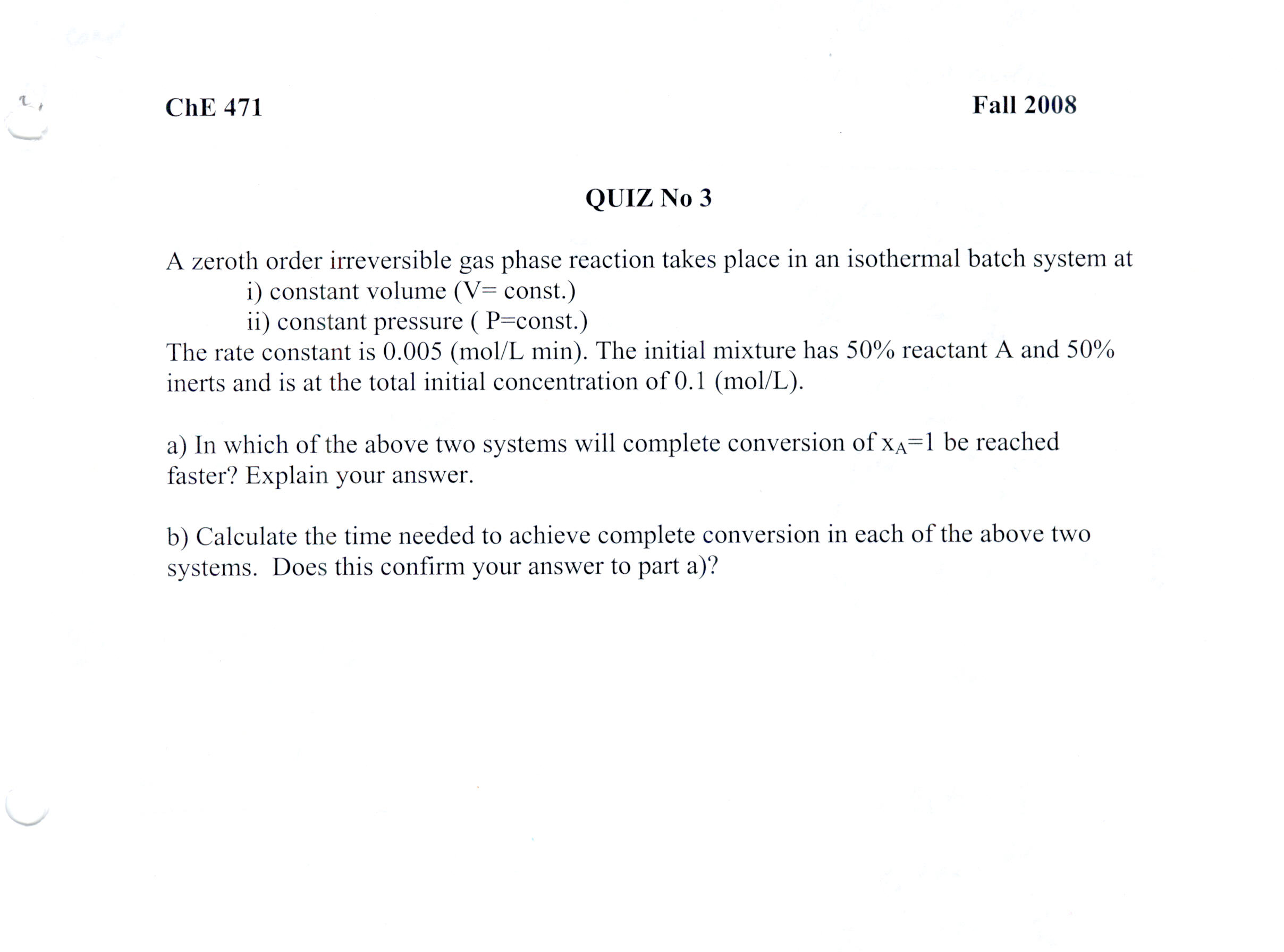 chemical kinetics questions Chemical kinetics practice test – answer key reduces the activation energy.