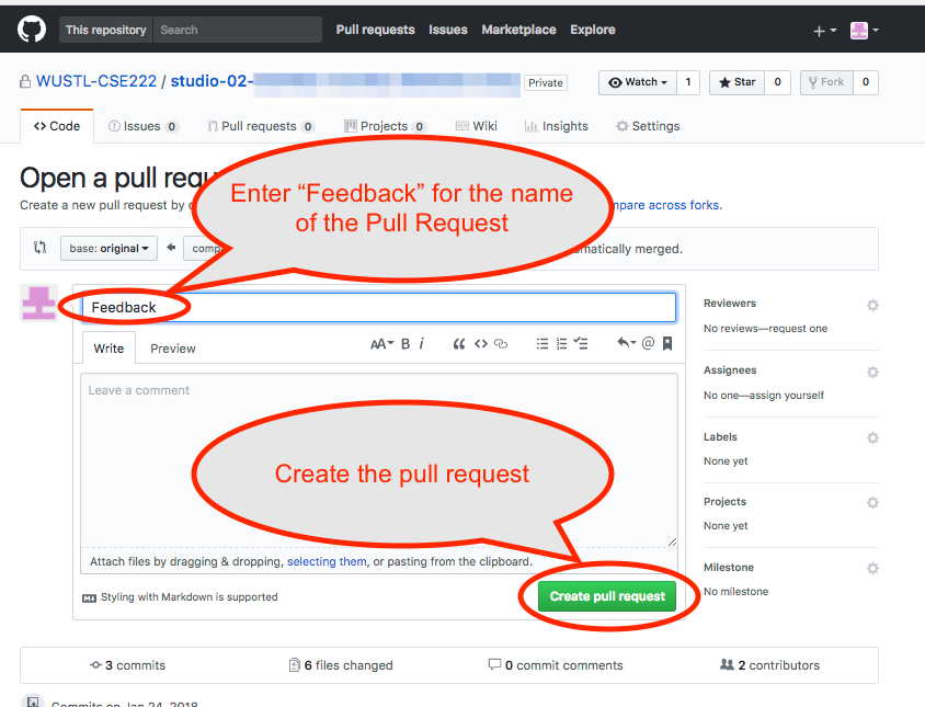 GitHub Grading Final Create Pull Request